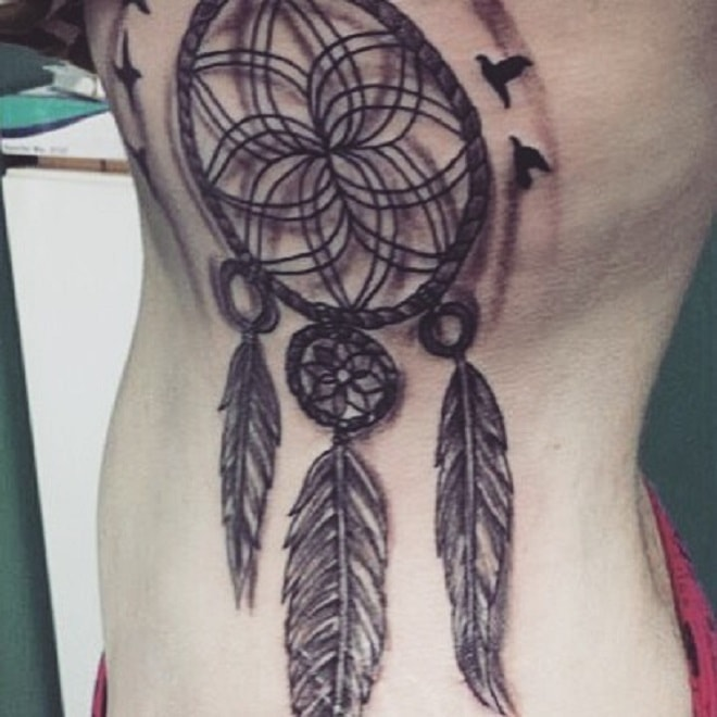 Amazing Girl Dreamcatcher Tattoo