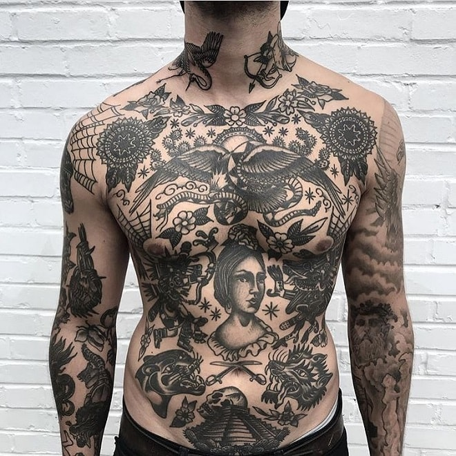 Amazing Torso Tribal Tatto