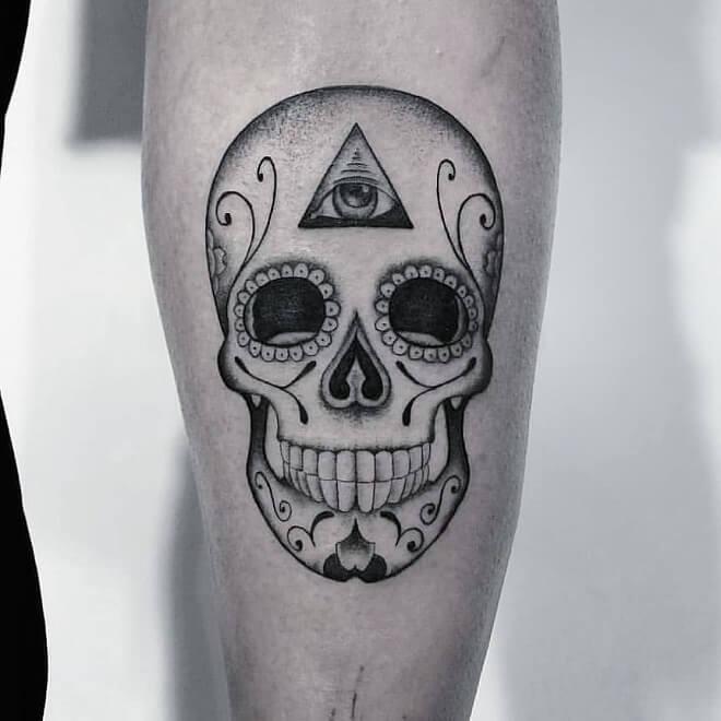 Amazing wrist Sugar skull Tattoo
