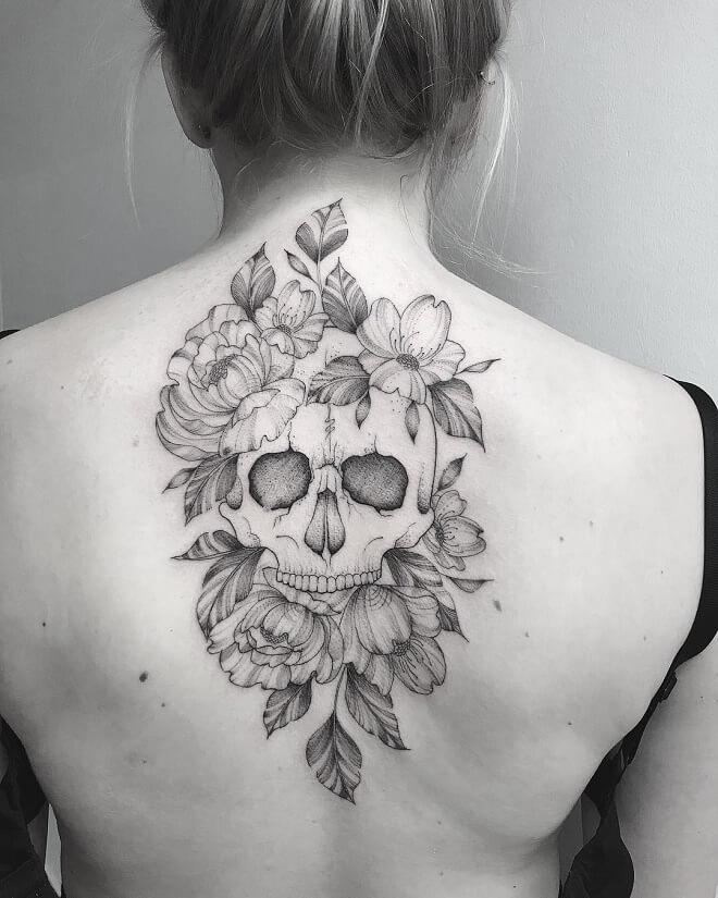 Back Skull Tattoos