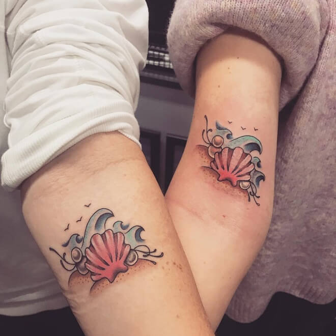 Beach Mother Daughter Tattoo