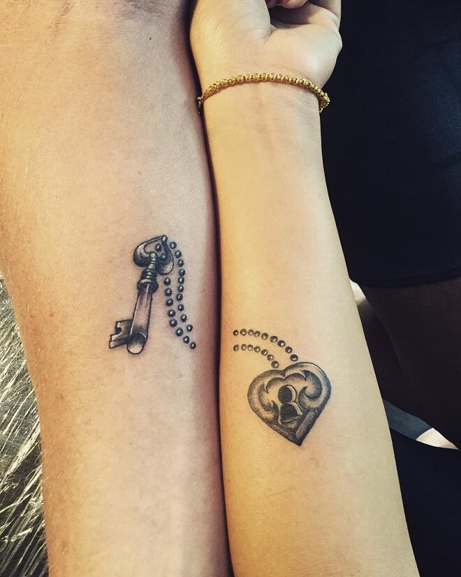 Blackcolor Couple Tattoos