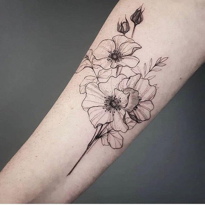 Botanical Lotus Tattoo