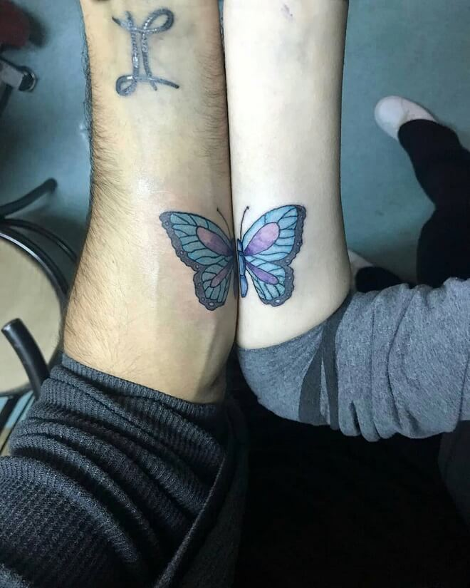 Butterfly Couples Tattoos
