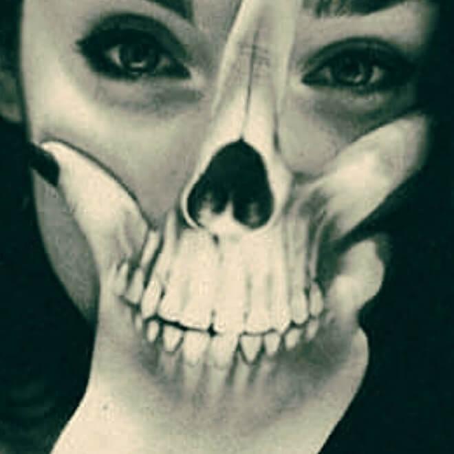 Clever Skull Tattoo Idea