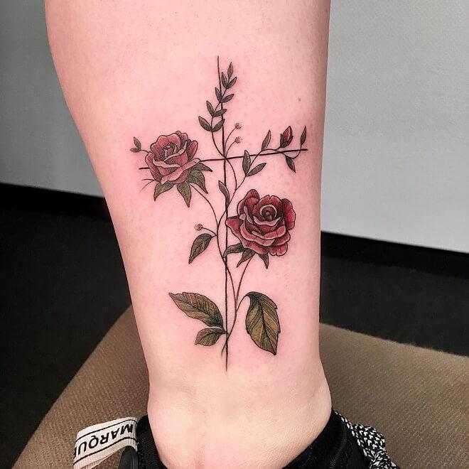Colorfull Tattoo Lotus