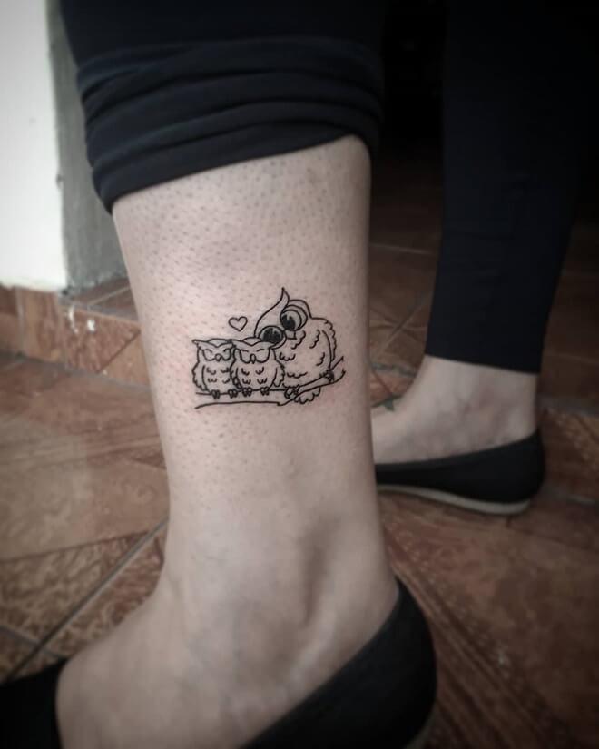 Corujinhas Owl Tattoo