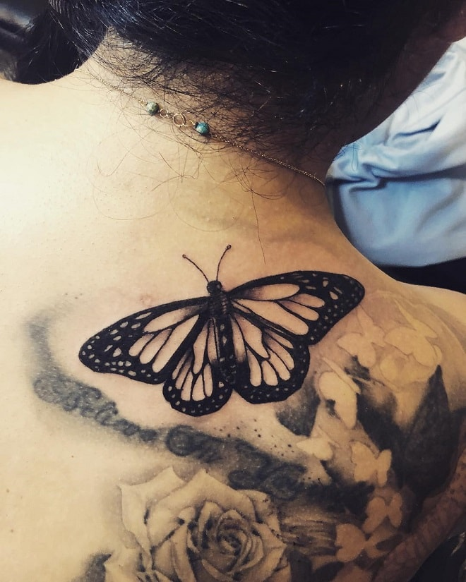 Cover-up Butterfly Tattoo