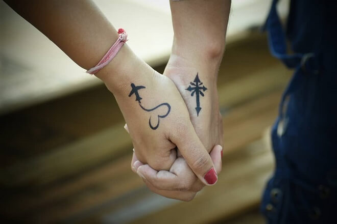 Cute love Couple Tattoo