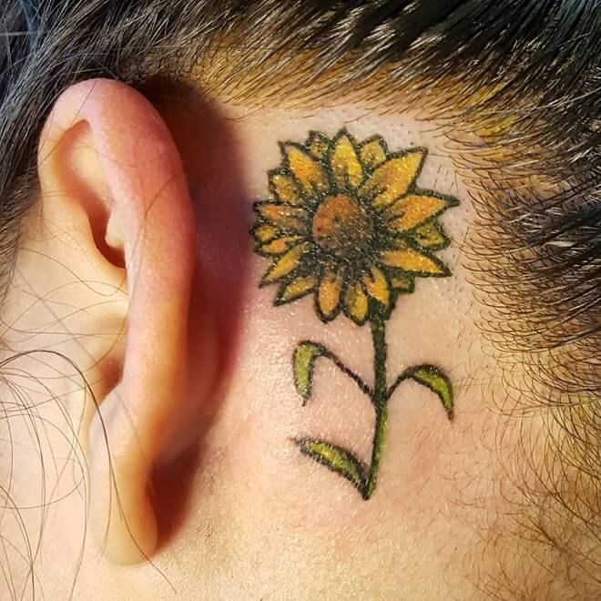 Dragonsden Sunflower Tattoo