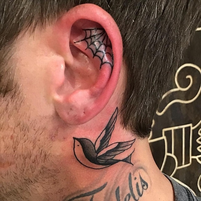Ear Tribal Tattoo