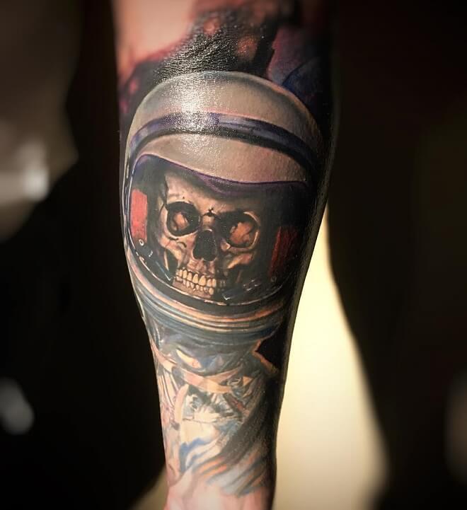 Epic skull tattoo