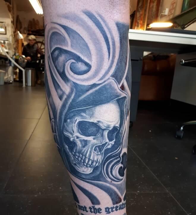 Exceptional Sleeve Skull Tattoo