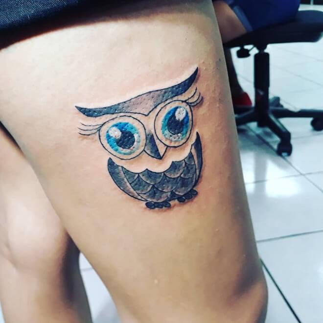 Exotic Owl Tattoo