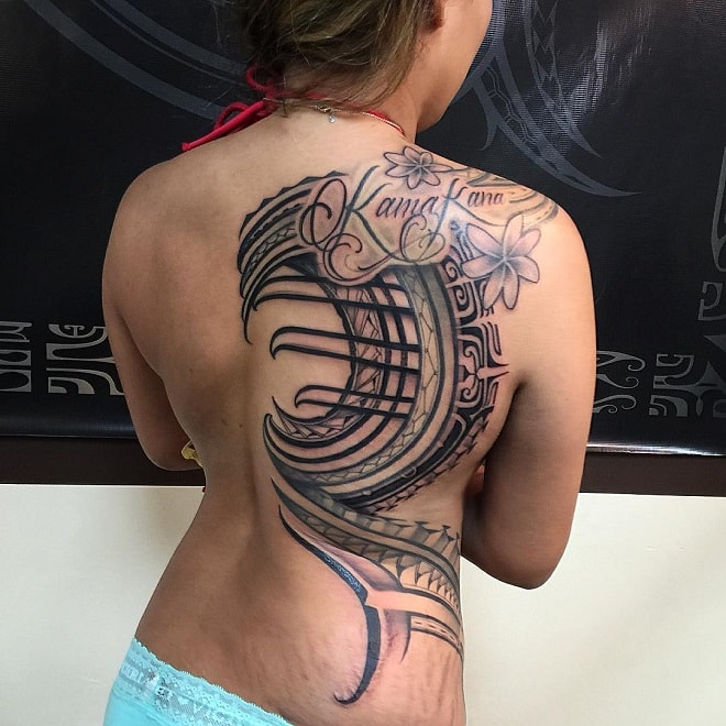 Feminine Tribal Tattoo