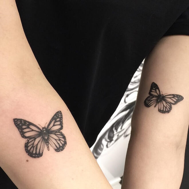 Fineline Mother Daughter Tattoo