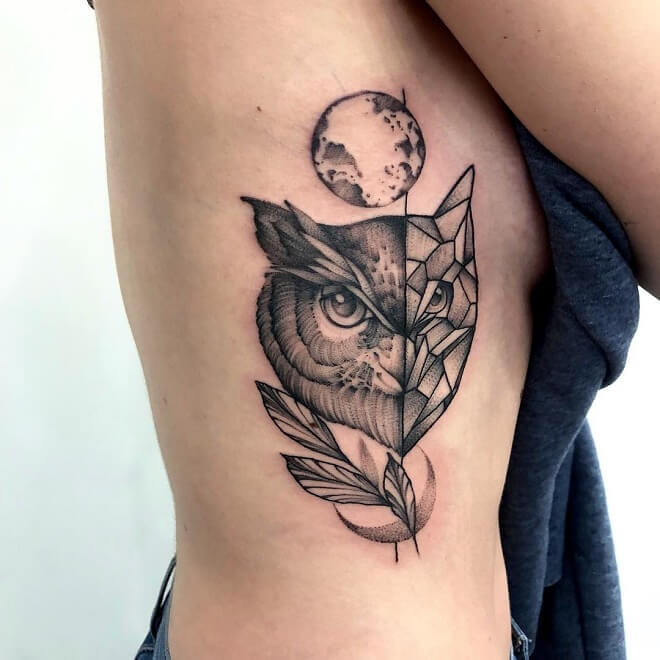 Flash Owl Tattoo
