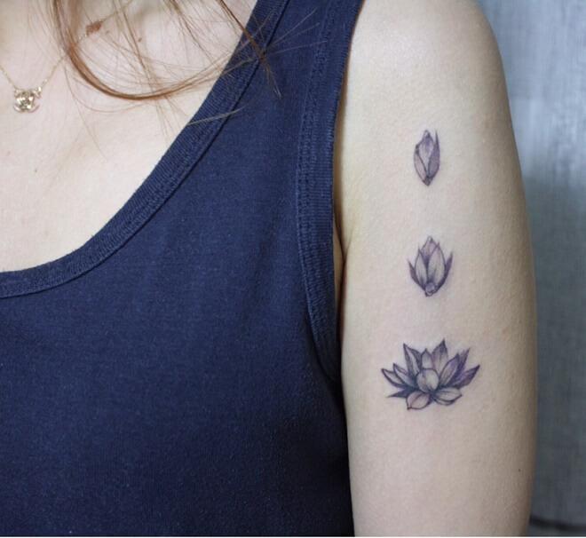 Flower Bud Lotus Tattoo