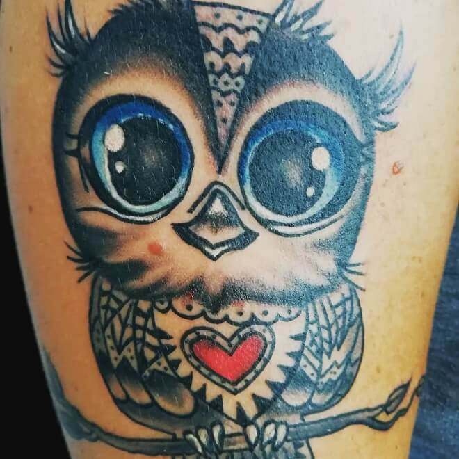 Fulda Owl Tattoo