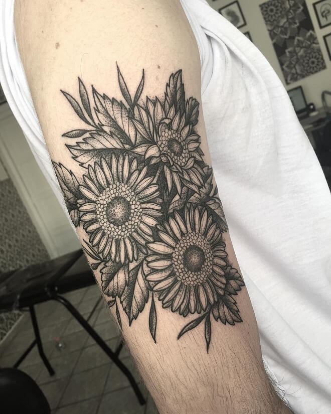 Girassol Sunflower Tattoo