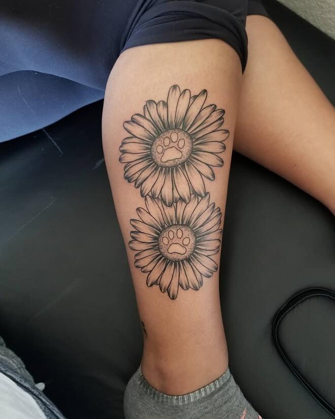 Girly Sunflower Tattoos