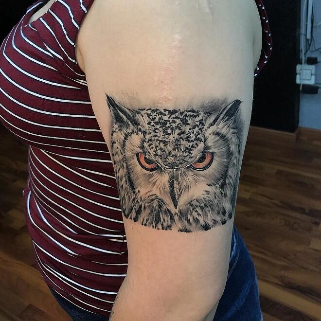 GuadalAjara Owl Tattoo