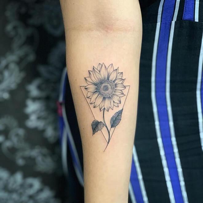 Hand Sunflower Tattoo