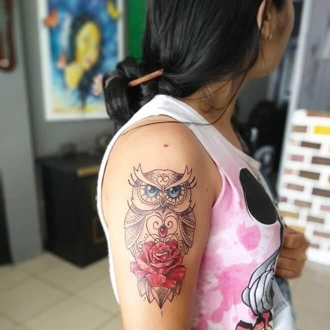 Ilhadoamo Owl Tattoo