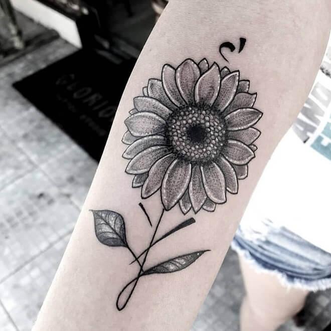 Inspiration Sunflower Tattoo