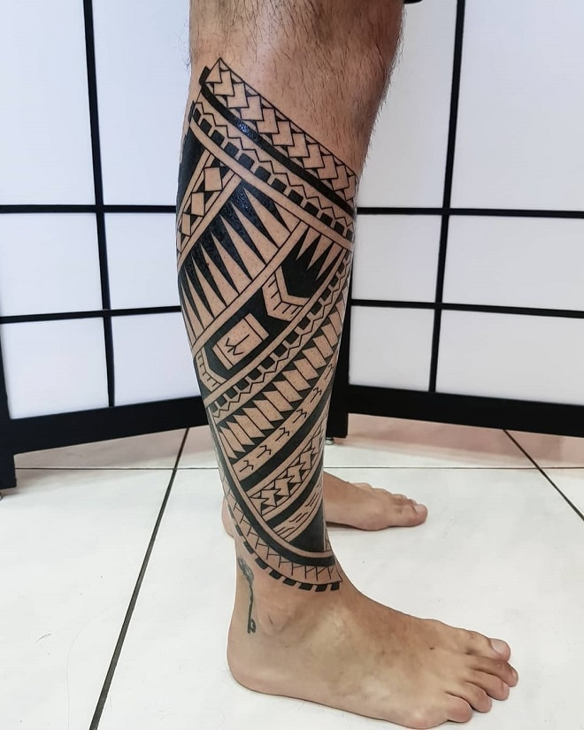Leg Tribal Tattoos