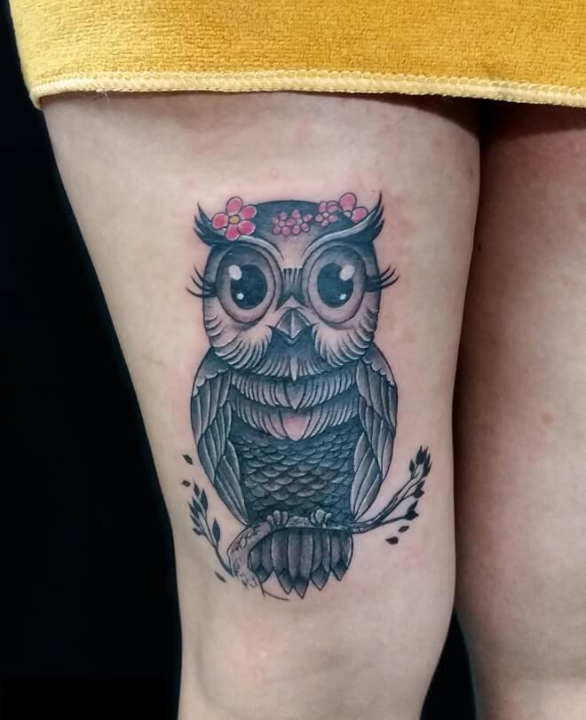Limaperu Owl Tattoo