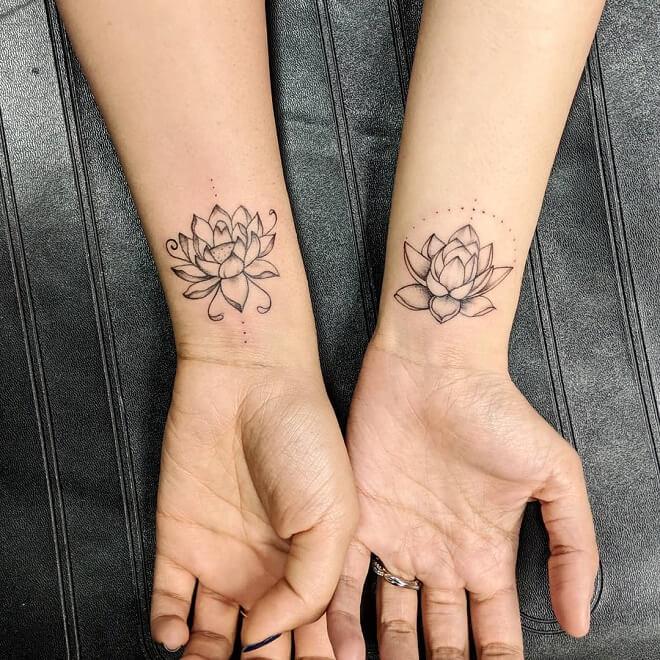 Lotus Sister Tattoos
