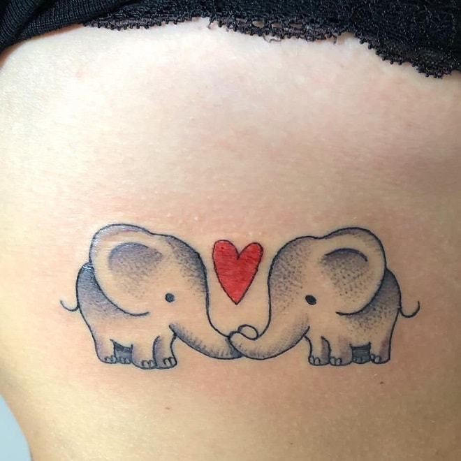 Love Elephant tattoo