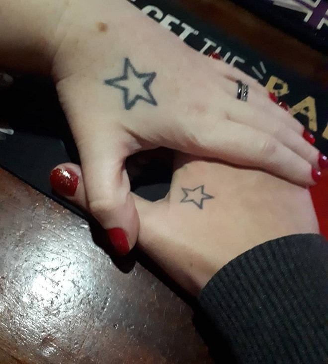 Matching Star Tattoos
