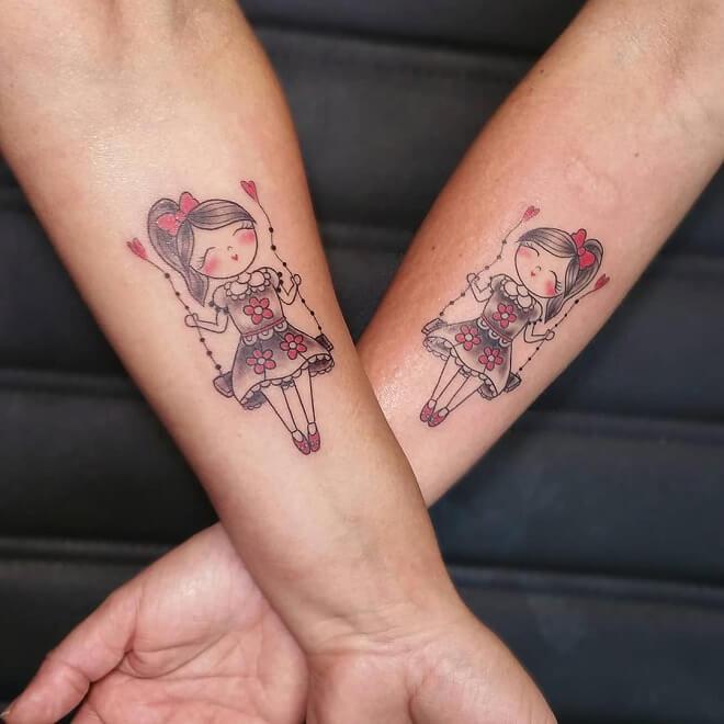 Minimal Sisters Tattoo