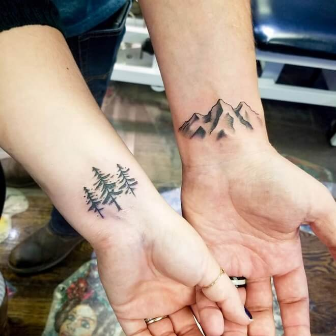 Mountain Couples Tattoo