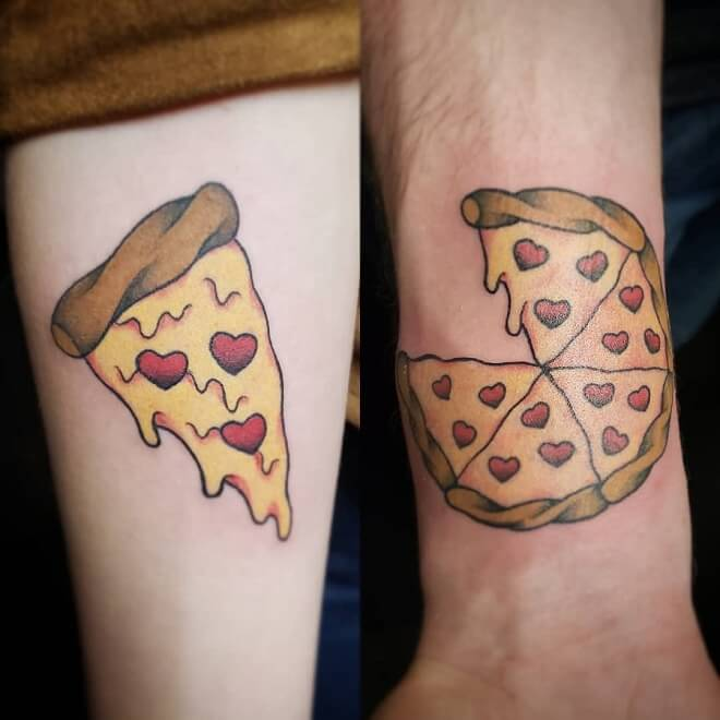 Pizzaslice Couples Tattoos
