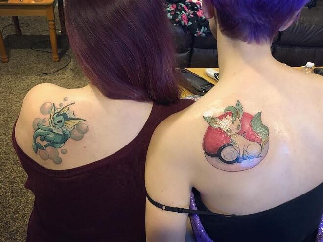 Pokemon Best Friends Tatoos