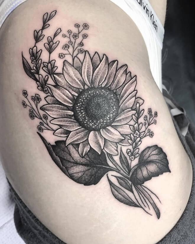 Rad Sunflower Tattoos