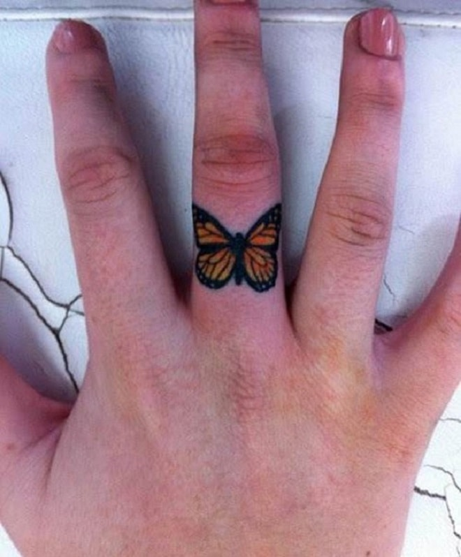 Ring Butterfly Tattoo