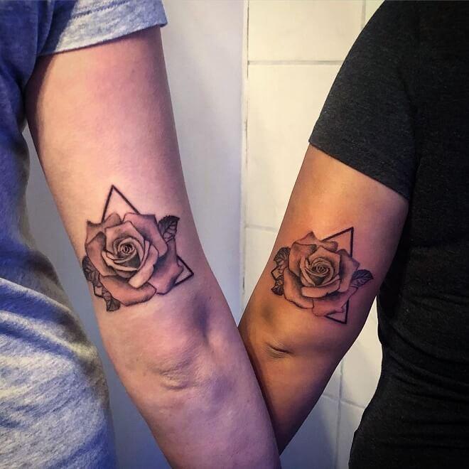 Rose Best Friends Tattoos