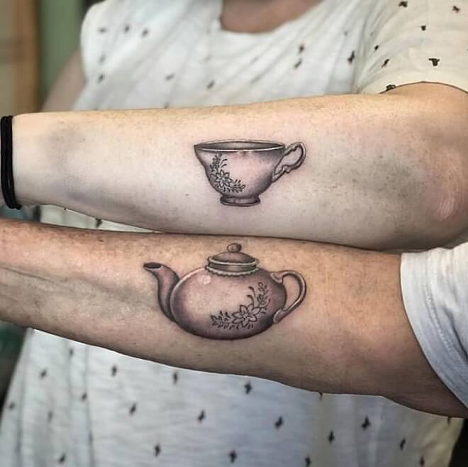 Tea Mother Daughter Tattoos