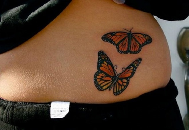 The Duo Butterfly Tattoo