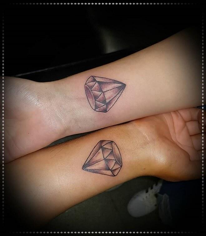 Thigh Best Friends Tattoo