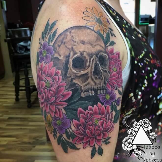 Thigh Skull Tattoos