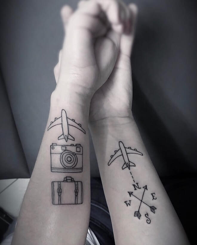Travel Couples Tattoos
