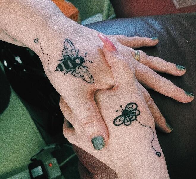 Wings Best Friends Tattoo