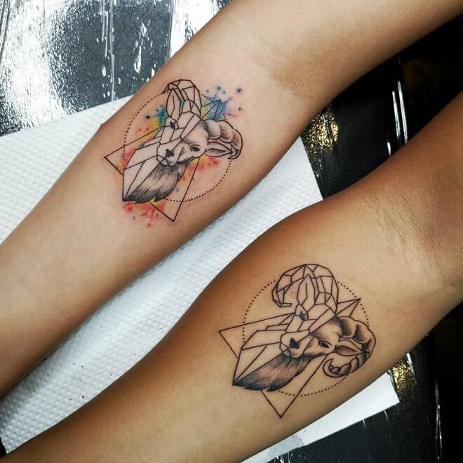 Zodiac Couple Tattoo