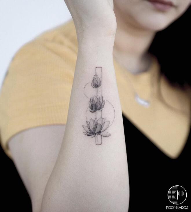 black Tattoo Art Lotus