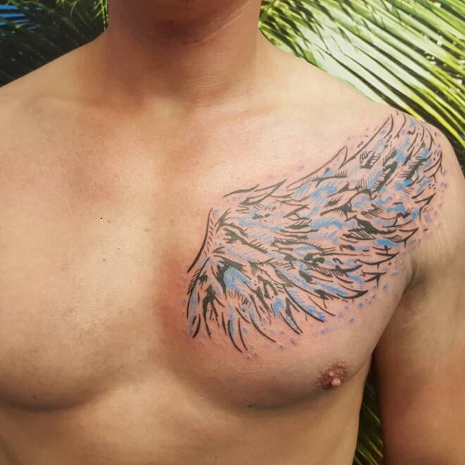 Abstract Angel Wings Tattoo